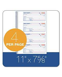 Tops Money/rent Receipt Book, 7 1/8 X 2 3/4, 2-part Carbonless, 200 Sets/book