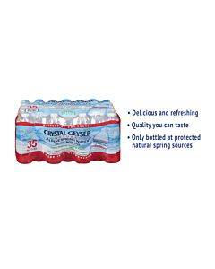 Natural Alpine Spring Water, 16.9 Oz Bottle, 35/carton
