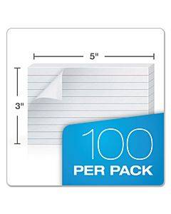 Self-stick Index Cards, 3 X 5, White, 100/pack