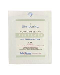 "Simpurity Fibergel Pad Wound Dressing, 2"" X 2"" Part No. Sns56702 (1/ea)"