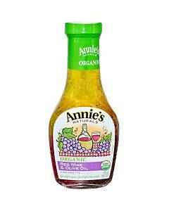 Annie's Naturals Vinaigrette Organic Red Wine And Olive Oil - Case Of 6 - 8 Fl Oz.