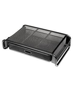 Metal Mesh Desktop Monitor Stand With Drawer, 18 X 11 3/4 X 5 1/8, Black