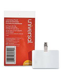 """Laminating Pouches, 5 Mil, 3.75"""" X 3.88"""", Matte Clear, 25/pack"""