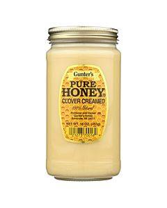 Gunter Pure Clover Creamed Honey - Case Of 12 - 16 Oz.