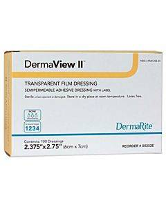 Dermarite Industries Dermaview Ii™   Transparent Film Dressing Model: 00252e (1/ea)