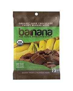 Barnana Organic Chewy Banana Bites - Chocolate - Case Of 12 - 1.4 Oz