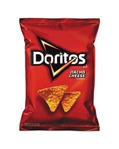Nacho Cheese Tortilla Chips, 1.75 Oz Bag, 64/carton