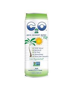 C2o - Pure Coconut Water Pure Pulp Coconut Water - Case Of 12 - 17.5 Fl Oz