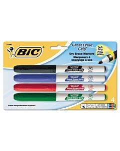 Intensity Low Odor Dry Erase Marker, Fine Bullet Tip, Assorted Colors, 4/set