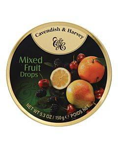 Cavendish And Harvey Fruit Tin - Mixed - Case Of 12 - 5.3 Oz