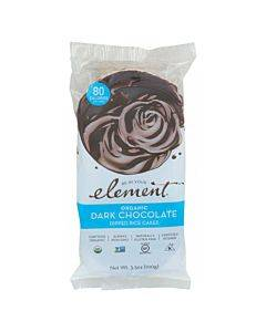 Element Organic Dipped Rice Cakes - Dark Chocolate - Case Of 6 - 3.5 Oz