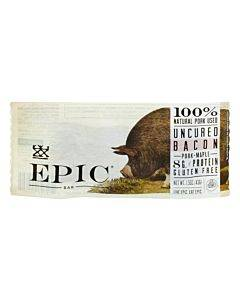 Epic Bar - Pork - Maple - Uncured Bacon - Case Of 12 - 1.5 Oz