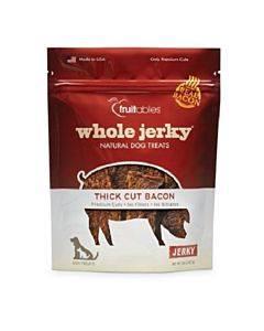 Fruitables Dog Treats - Whole Jerky - Bacon - Case Of 8 - 5 Oz