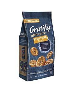 Gratify Pretzel Thin - Everything - Case Of 6 - 10.5 Oz