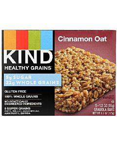 Kind Healthy Grains Bars - Cinnamon Oat - Case Of 8 - 5/1.2 Oz