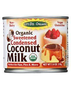 Let's Do Organic Organic Coconut Milk - Sweetened Condensed - Case Of 6 - 7.4 Fl Oz