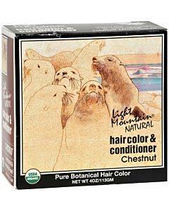 Light Mountain Hair Color/conditioner - Organic - Chestnut - 4 Oz