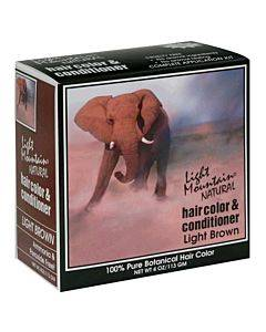 Light Mountain Hair Color/conditioner - Organic - Light Brown - 4 Oz