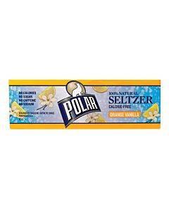 Polar Beverages Seltzer - Vanilla 12pk - 12/12 Fl Oz