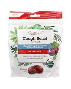 Quantum Research Organic Cough Relief Lozenges - Bing Cherry - 18 Count