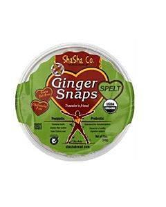 Shasha Bread Organic Spelt Ginger Snap Cookies - Case Of 16 - 12 Oz