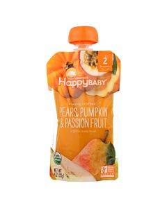 Happy Baby Happy Baby Clearly Crafted - Pears Pumpkin And Passion Fruit - Case Of 16 - 4 Oz.