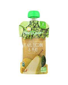 Happy Baby Happy Baby Clearly Crafted - Pears Zucchini And Peas - Case Of 16 - 4 Oz.