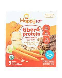 Happy Tot Happy Tot Fiber And Protein - Apple Peach Pumpkin And Cinnamon - Case Of 6 - 0.88 Oz.