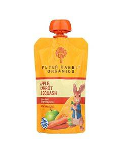 Peter Rabbit Organics Veggie Snacks - Carrot Squash And Apple - Case Of 10 - 4.4 Oz.