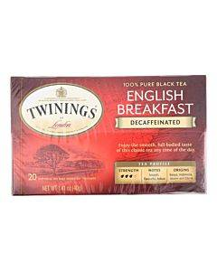 Twining's Tea Breakfast Tea - English Decaffeinated - Case Of 6 - 20 Bags