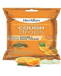 Orange Cough Drops