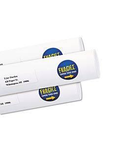 "Vibrant Inkjet Color-print Labels W/ Sure Feed, 1 1/2"" Dia, White, 400/pk"
