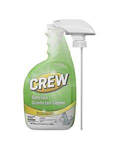 Crew Bathroom Disinfectant Cleaner, Floral Scent, 32 Oz Spray Bottle