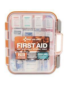 Ansi Class A Bulk First Aid Kit, 210 Pieces, Plastic Case