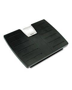 Adjustable 3-height Footrest,tilt Lock,17-1/2w X 13-1/8d X 4-3/8h, Black/silver