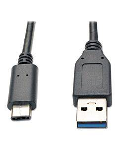 Usb 3.0 Superspeed Cable, Usb 3 Type A Male; Usb C Male, 3 Ft, Black