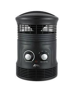 "360 Deg Circular Fan Forced Heater, 8"" X 8"" X 12"", Black"