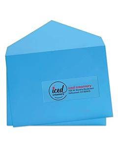 Glossy Clear Easy Peel Mailing Labels W/ Sure Feed Technology, Inkjet/laser Printers, 1 X 2.63, 30/sheet, 10 Sheets/pack