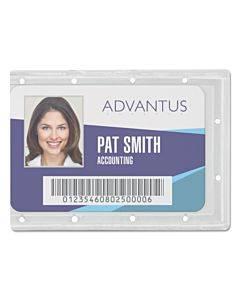 Id Card Holders, Horizontal, 3.68 X 2.25, Clear, 25/pack