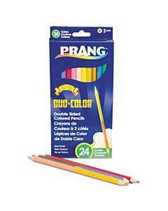 Duo-color Colored Pencil Sets, 3 Mm, 2b (#1), Assorted Lead/barrel Colors, Dozen
