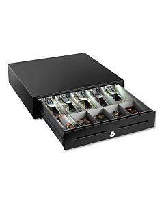 "High-security Cash Drawer, 4 1/4"" X 16 3/8"" X 16 1/8"", Plastic; Steel, Black"