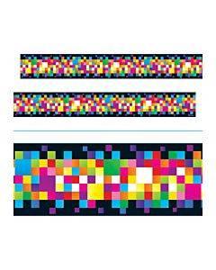 """Bolder Borders, 2 3/4"""" X 35 3/4 Ft, Pixels, Assorted"""