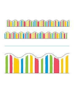 "Terrific Trimmers Print Board Trim, 2 1/4"" X 41"", Bold Strokes Stripes, Assorted"