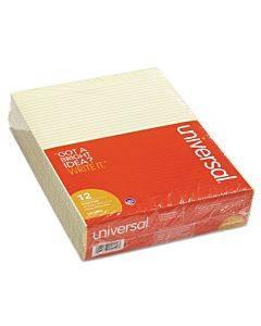 Glue Top Pads, Narrow Rule, 8.5 X 11, Canary, 50 Sheets, Dozen
