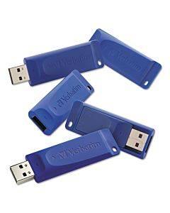Classic Usb 2.0 Flash Drive, 8 Gb, Blue, 5/pk