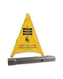 """Pop Up Safety Cone, 3"""" X 2 1/2"""" X 20"""", Yellow"""