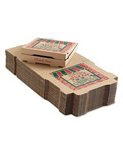 Corrugated Pizza Boxes, 12 X 12 X 1 3/4, Kraft, 50/carton