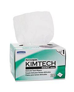 Kimwipes, Delicate Task Wipers, 1-ply, 4 2/5 X 8 2/5, 280/box