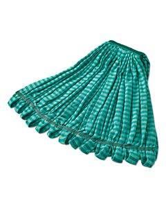 "Microfiber Tube Wet Mop, Microfiber, 1"" Headband, Green"
