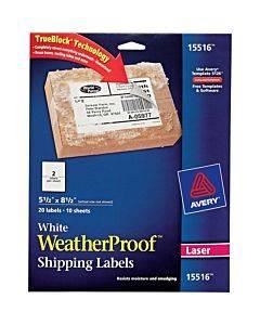 Avery® Waterproof Shipping Labels With Trueblock